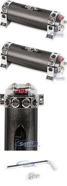 capacitors stinger shc101 car audio parts shc hpm amplifier 1 capacitors spl cp2 0 2 0 farad car audio capacitor cap digital voltmeter