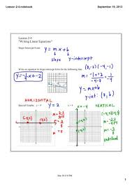 2 4 writing linear equations