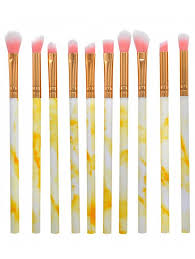 outfits cosmetic 10pcs marble handles super soft eye makeup brush set