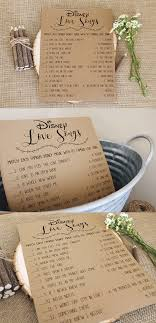 Disney Love Songs Bridal Shower Game Printable Instant Download