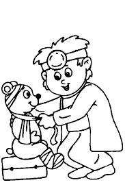 Kleurplaten Dokters En Ziek Zijn