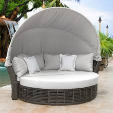 Panama Jack® Graphite Outdoor Canopy Daybed in Grey   Bed Bath & Beyond
