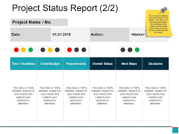 Project Status Slide Project Status Report Powerpoint Slide Deck Templates