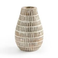 <b>Ваза декоративная</b> из мангового дерева, bisho белый <b>La</b> ...