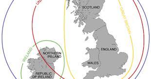 British Isles Venn Diagram England Vs Great Britain Vs United Kingdom Explained