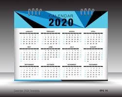 Photoshop Calendar Template 2020 2020 Calendar Template Layout Design Vector 02 Free Download