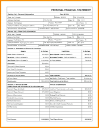 Personal Income Statement Financial Form Download Free Template 4 ...