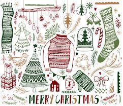 Sledstar Designs Set Of Christmas Hand Drawn Design Elements Download Free