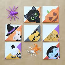 This one displays the coolest squash in the patch. Print Fold Halloween Bookmarks Tutorial It S Always Autumn