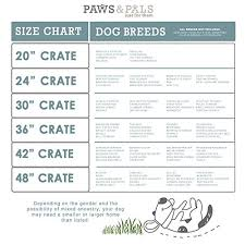 dog crates size chart