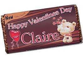 personalised valentines day love 114g milk chocolate bar happy valentines day present gift idea n56