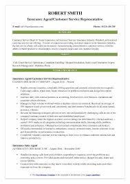 Insurance Representative Sample Resume Podarki Co