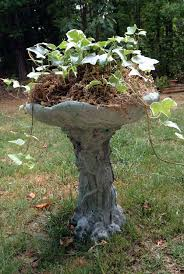instant garden antique aging a concrete bird bath