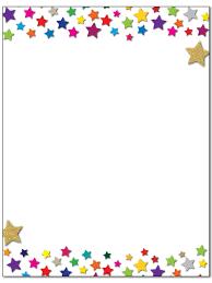 Star Stationery 8 5 X 11 60 Letterhead Sheets Star Border Letterhead Stars