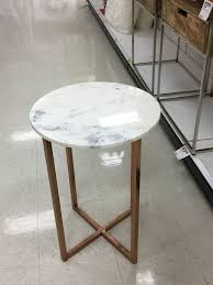 from target marble top with rose gold legs side table love this i think i want to get all of targets hourly things and put them in my room brilliant decorating mirrored furniture target