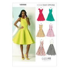 A Line Dress Pattern Adorable Vogue Misses' Dress Pattern V48 Size A48 Discount Designer Fabric