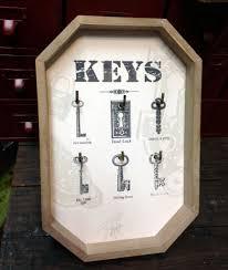 skeleton key wall decor key holder vintage style