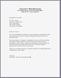 example of a formal business letter cover letter templates cover business letter