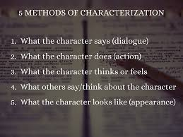 Methods Of Characterization Elements Of Fiction By Micah Daigle