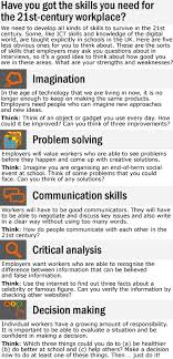 skills for the st century workplace learnenglish teens  show check your understanding true or false