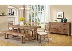 coaster elmwood rustic u base dining table coaster fine furniture