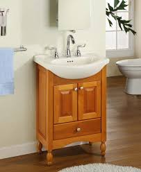 Narrow Depth Base Cabinets Furniture Brown Polished Wooden Narrow Depth Vanity With White
