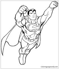 As spiderman, batman and other avengers, the new films featuring superman are planned ! Superman Flying Coloring Pages Spiderman Coloring Pages Free Printable Coloring Pages Online