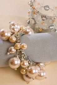 Very elegant- pearl napkin rings