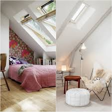 Kleine Slaapkamer Schuin Dak Eigentijdse Slaapkamer Lamp Nachtkastje