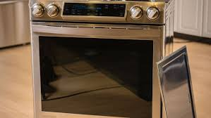 samsung induction range. samsung ne58h9970ws slide-in induction chef collection range with flex duo oven review - cnet o