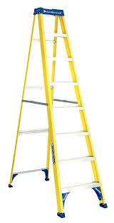 fiberglass step ladder 7 ft ladder fiberglass step ladder 7 foot ladder werner 4 ft fiberglass