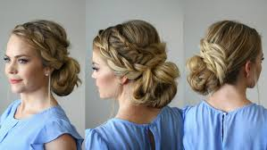 French Braid Updo Hairstyles Stacked Fishtail French Braid Updo Missy Sue Youtube