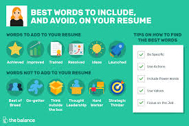 how to perfect your resume 30 good resume words to include and avoid
