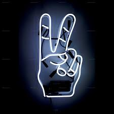 Peace Sign Bedroom Decor Neon Signs Oliver Gal