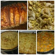 homemade honey baked ham homemade potato salad homemade corn bread and ms felder southern style homemade mac n chesse with yams