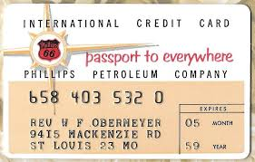 1959 phillips 66 charge plate credit card phillips petroleum pany 1 of 2