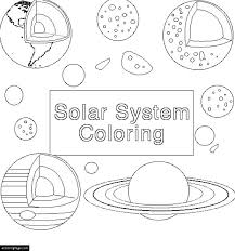 Small Picture Space Solar System Planets Coloring Page for Kids Printable