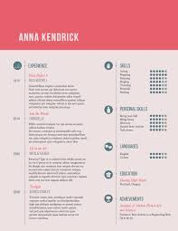 Girly Resume Templates Resume Template 24 Anna Kendrick The Top Of The Pile 16