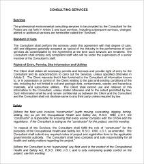 Consulting Agreement Sample In Word Delectable 48 Sample Free Consulting Agreement Templates Sample Templates