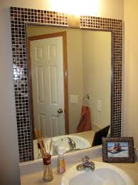 diy bathroom wall decor. Decoration: Minimalist Designed Contemporary Bathroom Which Is Completed With Small Vanity And Diy Mirror Wall Decor N