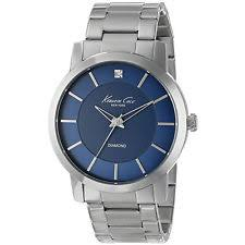 kenneth cole wristwatches kenneth cole ny men s kc9329 rock out round blue diamond dial bracelet watch