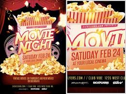 Free Movie Night Flyer Templates Free Movie Night Flyer Template Free Movie Night Flyer