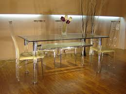 acrylic dining table and chairs photo - 1
