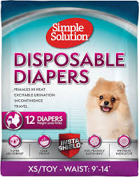 Simple Solution True Fit Disposable Female Dog Diaper | Hero Pet Brands