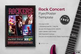 Free Printable Event Flyer Templates Rock Concert Free Flyer Thatsdesign Store