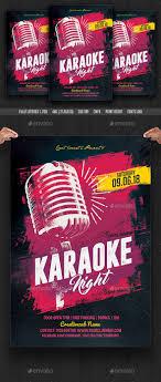 Karaoke Night Flyer Template Karaoke Night Flyer By Creativeartx GraphicRiver 15