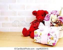 teddy bear doll cute with gift box and flowers copy e wallpaper free teddy bear doll