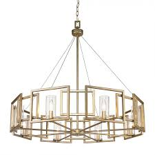 golden lighting 6068 8 wg marco 8 light large chandelier in white gold with clear glass
