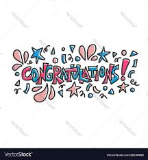 Word For Congratulations Congratulations Quote Concept Desing Word