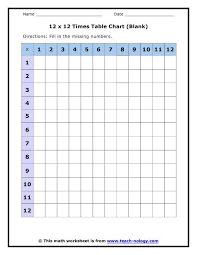 Image Result For Times Table Chart Printable Time Tables